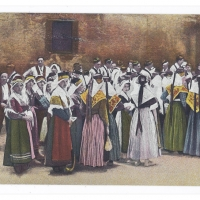 Postcard – France | Group of Villagers from Bethmale, Pyrenees